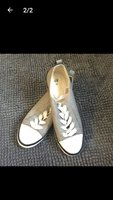 Used H&M flat grey shoes size 39 for her in Dubai, UAE