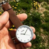 Used Original TOMI Leather Watch •New withBOX in Dubai, UAE
