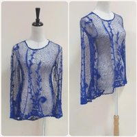 Used Brand new blue top transparent free size in Dubai, UAE