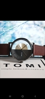 Used Original TOMI Leather Watch▪︎NEW □✅ Box in Dubai, UAE