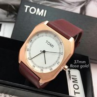 Used TOMI Leather Watch New wd BOX < Original in Dubai, UAE