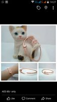 Used nail rose gold bangle in Dubai, UAE