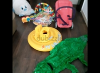 Used Baby chair, play mat, inflat latex in Dubai, UAE