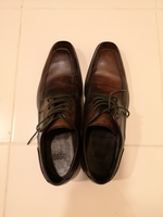 Used Hugo Boss Leather Shoes Brown Size 40 in Dubai, UAE