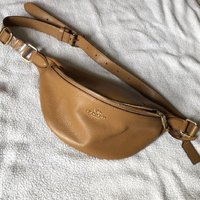 Used Coach pebble leather belt bag in Dubai, UAE