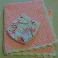 Used Pink Baby Girl Blanket and Reusable Cloth Diaper in Dubai, UAE