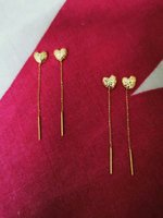 Used 2 pairs of tictac earing 18 K gold in Dubai, UAE