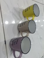 Used Coffee cup different colours 3 pcs set in Dubai, UAE