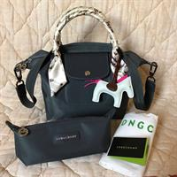 Used original longchamp neo small size with pouch pair of twilly charm carecard dustbag brandnew  in Dubai, UAE