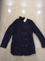Used Collar coat new-75 cm-size L navy in Dubai, UAE