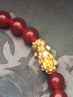 Used Solid gold 24k and natural Aqeeq stone  in Dubai, UAE