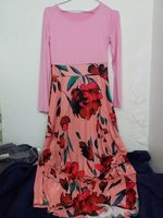 Used DRESS PINK/ OCHER. FLOWERS. SIZE L in Dubai, UAE