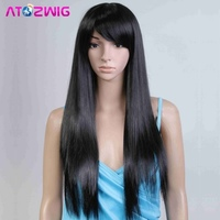Beautiful full black hair wig