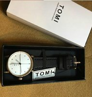 Used Leather Watch Original TOMI _ with BOX in Dubai, UAE