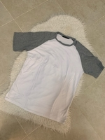 Used Man size L white/grey top  in Dubai, UAE