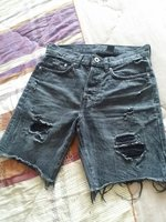 Used Short Ripped Denim Jeans in Dubai, UAE