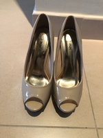 Used Authentic Max size 37 nude high heels in Dubai, UAE