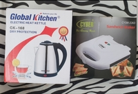 Used New sandwich maker and kettle set in box in Dubai, UAE