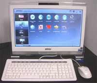 MSI computer touch screen