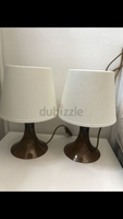 Used 2pcs small lampshade for bed side table in Dubai, UAE