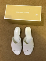 Used MK white sandals in Dubai, UAE