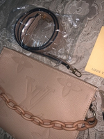Used LV inspired clutch bag with strap  in Dubai, UAE