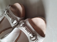 Used Authentic Dior Wooden platform shoes in Dubai, UAE