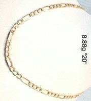 Chain 18K Real Italy Gold Unisex