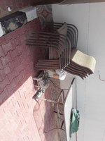 Used Table and chairs with umbrella in Dubai, UAE