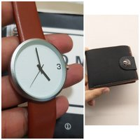 Used Original TOMI Watch☆ 🆓️ Leather Wallet in Dubai, UAE