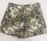 Used Gold and black patterned shorts xs  in Dubai, UAE