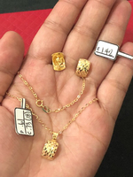 Set necklaces and earring with 2.76grams