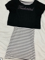 Used Black & White Shirt Dress  in Dubai, UAE