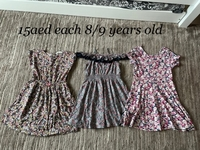 Used 3 dresses 8/9 years old girl  in Dubai, UAE
