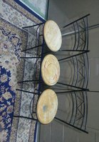 Used Strong chairs seats chipped and discolou in Dubai, UAE