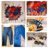 Used 2 pants & 4 toy cars & wall sticker  in Dubai, UAE