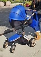 Used Mima xari stroller luxury royal blue in Dubai, UAE