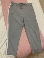 Used Zara grey and white pants  in Dubai, UAE