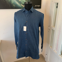 Cordone Italia denim men's shirt (44)