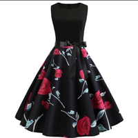 Dress with rose print size L