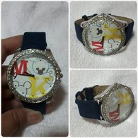 Navy blue Mickey mouse watch for lady.