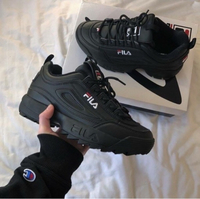Used FILA BLACK UNISEX SHOES 36 to 45 size in Dubai, UAE