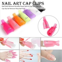 2 sets of nail gel remover cap clips
