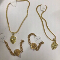 Used Men's golden lion jewelry  in Dubai, UAE