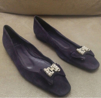 Used FLAT REAL LEATHER SUEDE FLAT SHOES,sz40 in Dubai, UAE