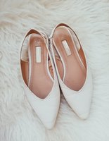 Used White pointed toe flat shoes size 36 in Dubai, UAE