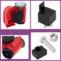 Used Super snail integrated air horn, red 12V in Dubai, UAE