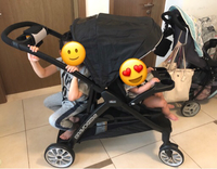 Used Double stroller used 3x  in Dubai, UAE