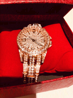Used Woman Watch Rose/Gold with stones in Dubai, UAE