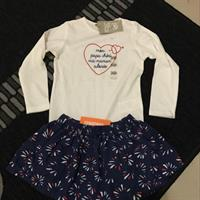 Brand New Girls Blouse + Skirt Set.
